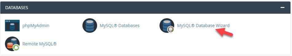 ورود به MySQL Database Wizard