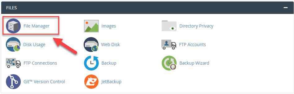 وارد شدن به file manager