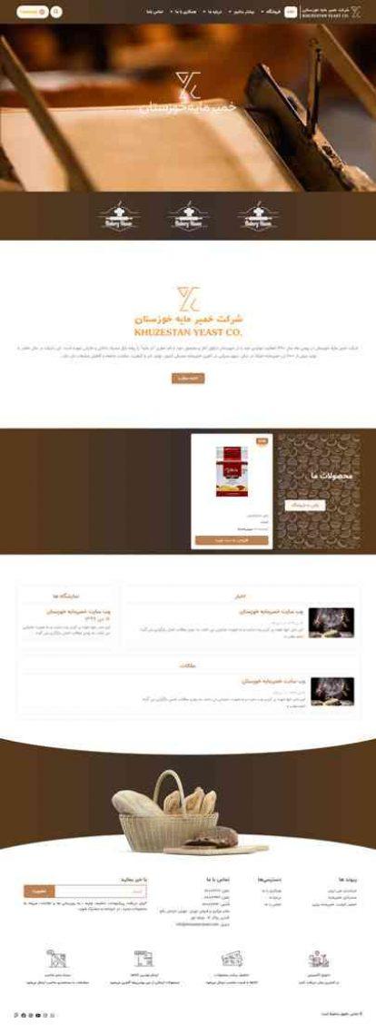طراحی سایت شرکتی ، فروشگاهی خمیر مایه خوزستان